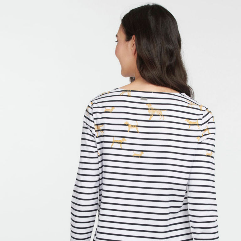 Barbour® Hawkins Print Top - OFF WHITE image number 1