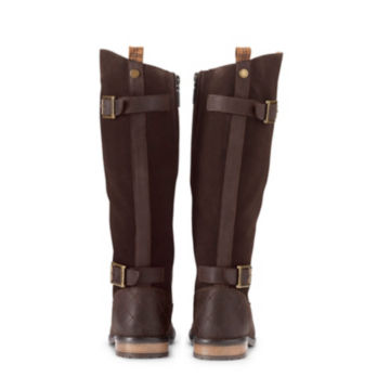 Barbour® Elizabeth Boots - CHOCOLATE LEATHER/SUEDE image number 1