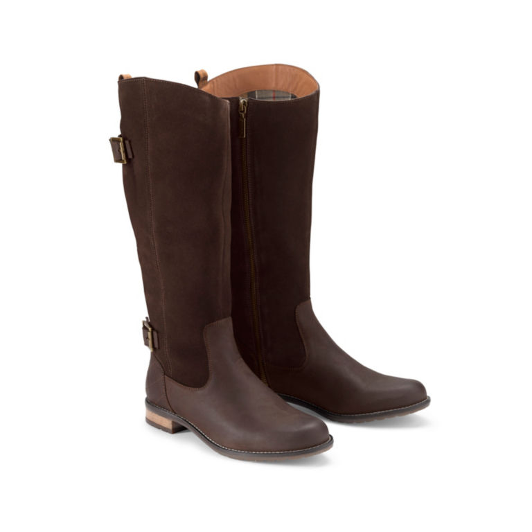 Barbour® Elizabeth Boots - CHOCOLATE LEATHER/SUEDE image number 0