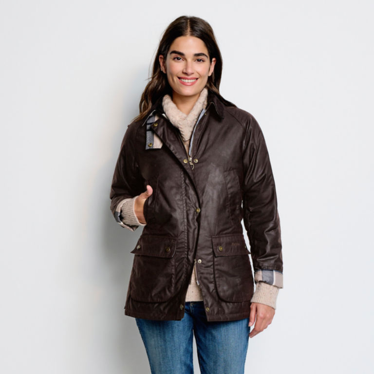 Orvis-Exclusive Barbour® Bilbury Waxed Jacket - RUSTIC image number 3