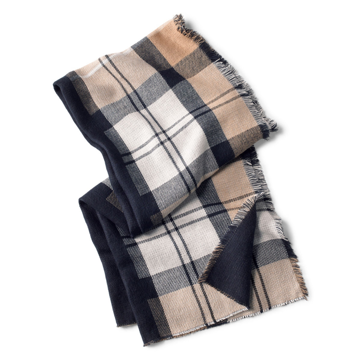 Barbour® Forth Reversible Scarf - HESSIAN/NAVYimage number 0