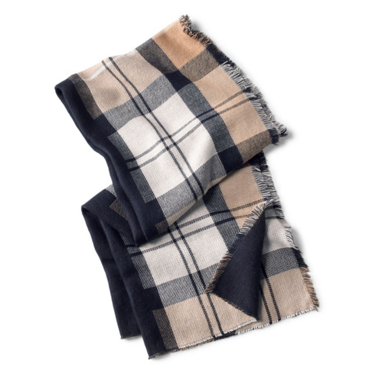 Barbour® Forth Reversible Scarf - HESSIAN/NAVY image number 0