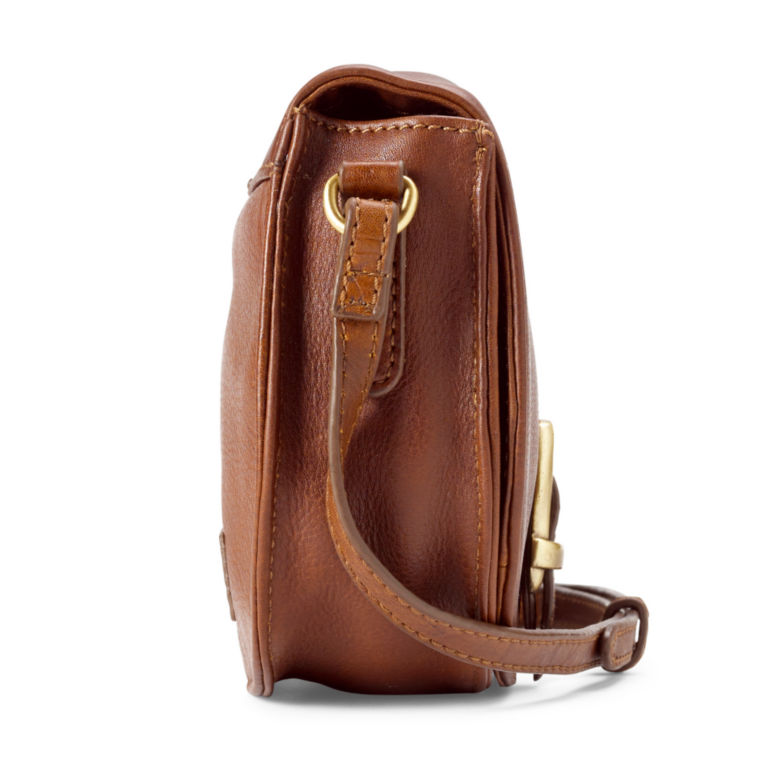 Barbour® Laire Leather Saddle Bag - BROWN image number 1