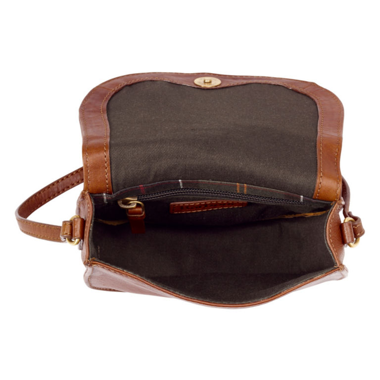 Barbour® Laire Leather Saddle Bag - BROWN image number 2