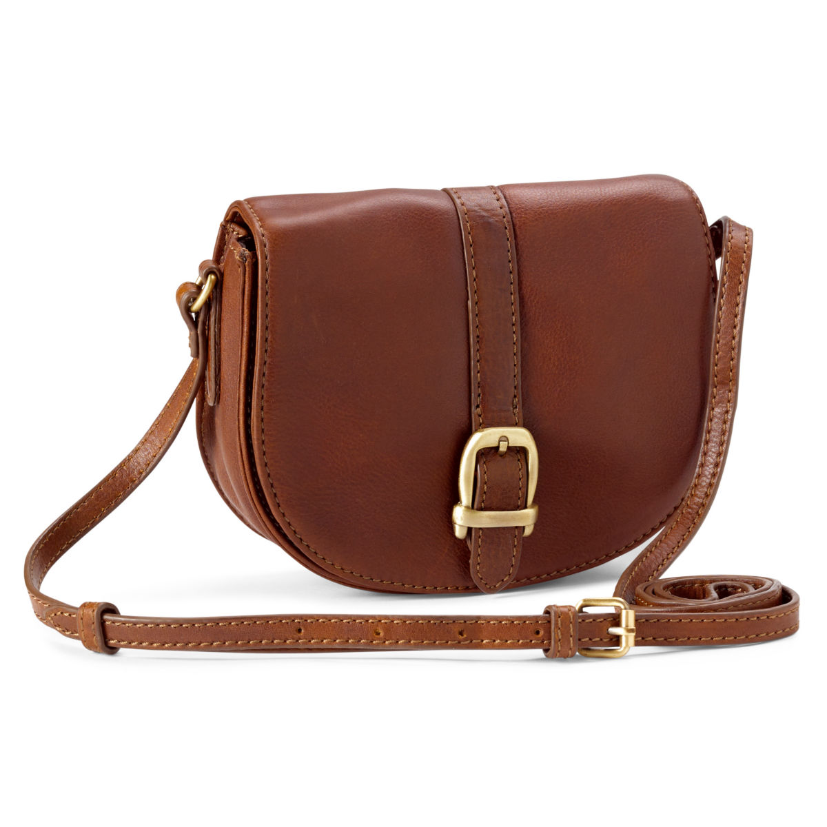 Barbour® Laire Leather Saddle Bag - BROWNimage number 0