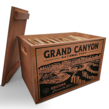 National Parks Fatwood Wooden Crate -  image number 1