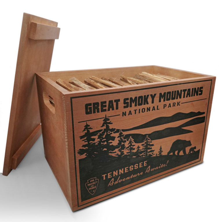 National Parks Fatwood Wooden Crate -  image number 2
