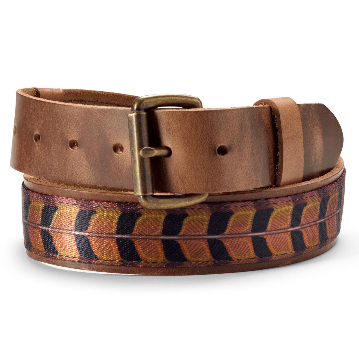 Leather Upland Print Belt - PHEASANTimage number 0