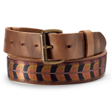 Leather Upland Print Belt - PHEASANT image number 0