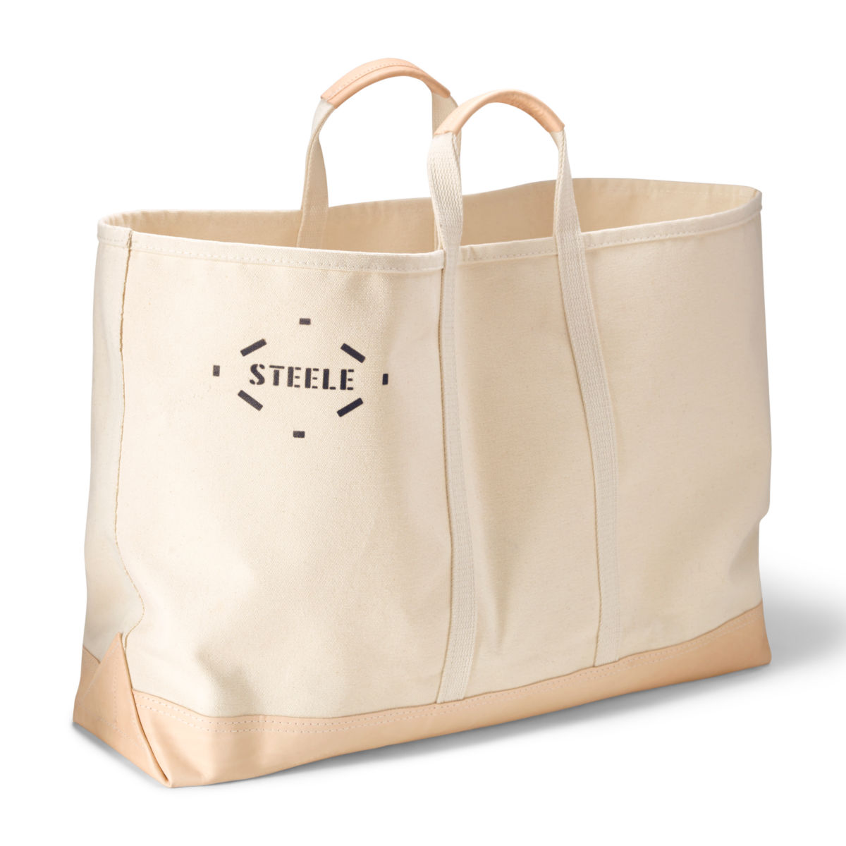 Canvas and Leather Utility Tote - image number 0
