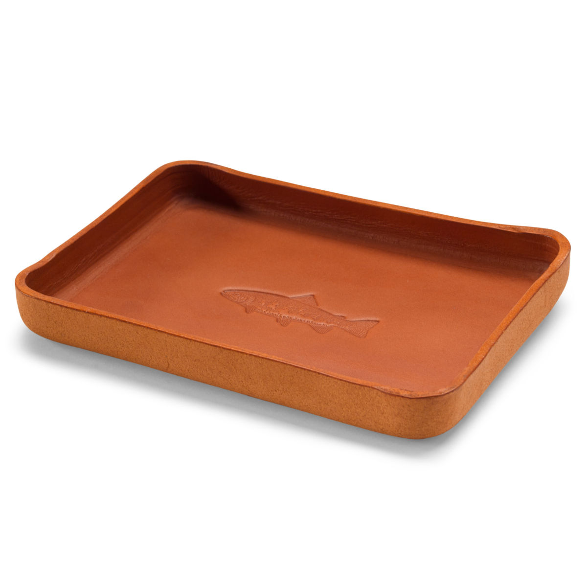 Leather Desktop Tray with Fish - image number 0
