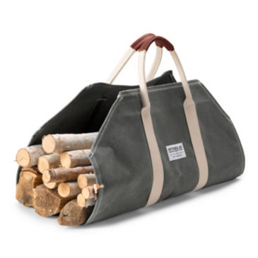 Canvas and Leather Log Carrier -