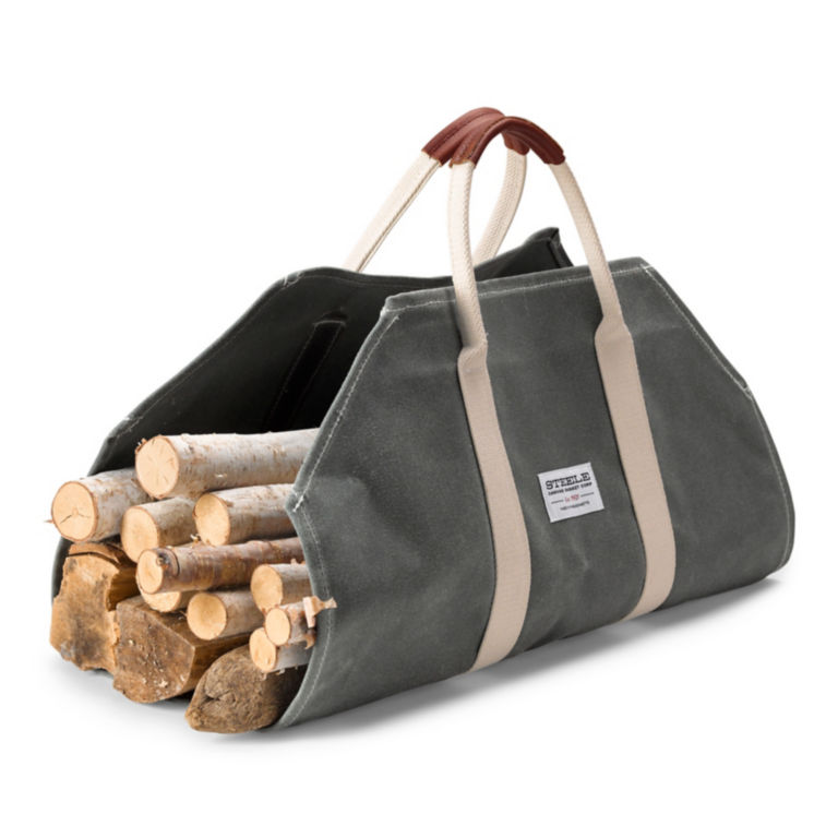 Canvas and Leather Log Carrier -  image number 0