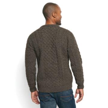 Black Sheep Irish Fisherman's Sweater - BROWN/GRAY image number 3