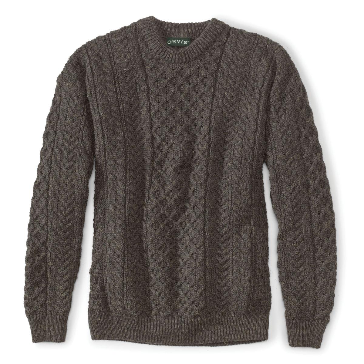 Black Sheep Irish Fisherman's Sweater - BROWN/GRAYimage number 0