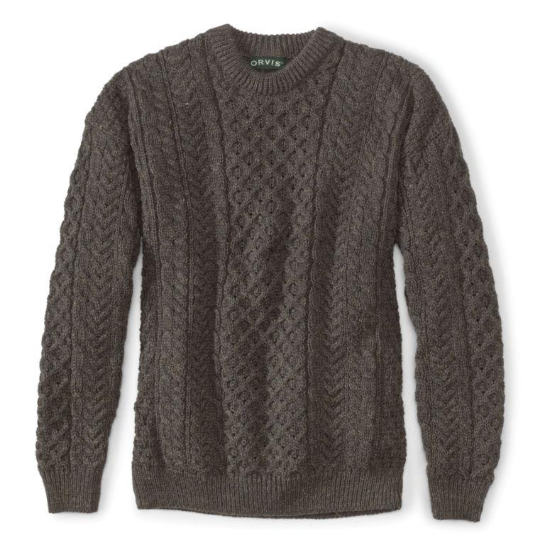Black Sheep Irish Fisherman's Sweater - BROWN/GRAY image number 0