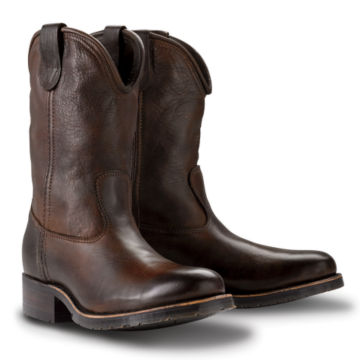 HH Brown Oil-Tanned Roper Boot - BROWN image number 0