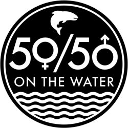 Wave logo for 50/50 on the Water.