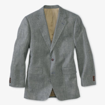 Silk Tweed Sport Coat - Long - NAVY image number 0