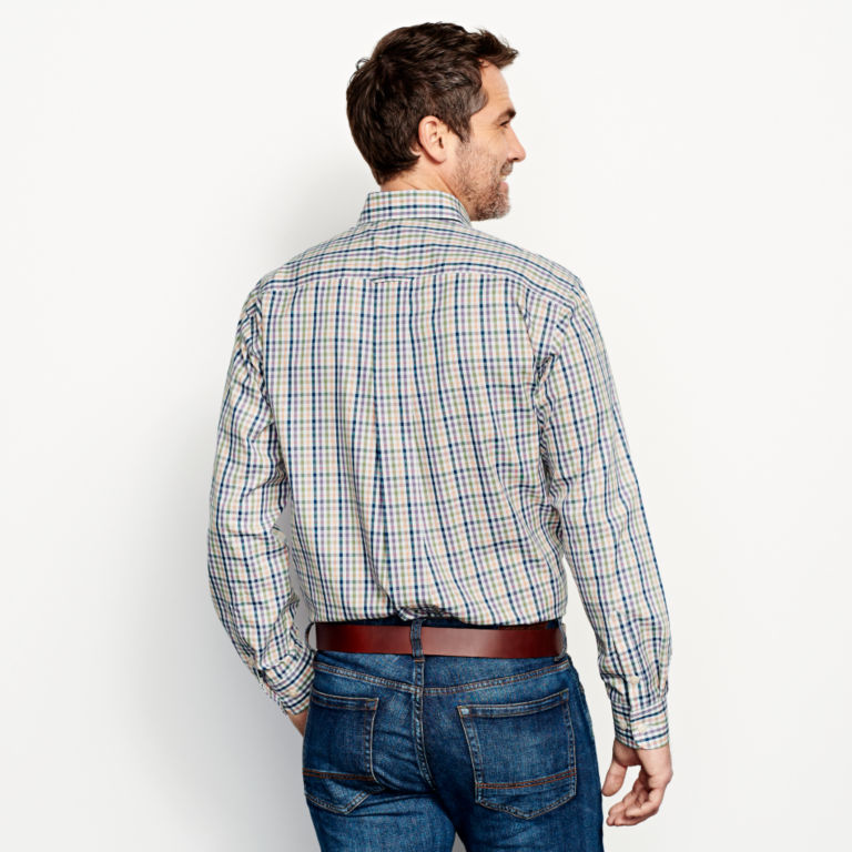 Pure Cotton Wrinkle-Free Pinpoint Oxford Shirt - Regular -  image number 3