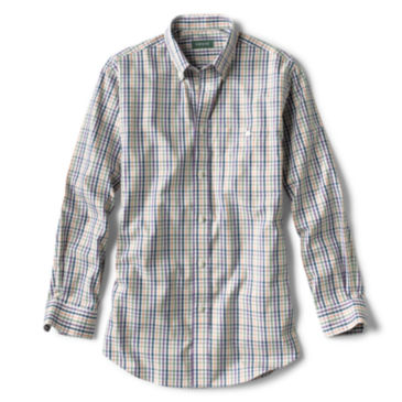 Pure Cotton Wrinkle-Free Pinpoint Oxford Shirt - Regular - OLIVE MULTI