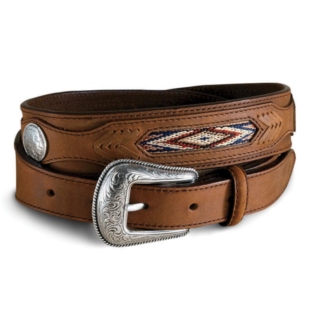 Buffalo Nickel Belt - BROWNimage number 0