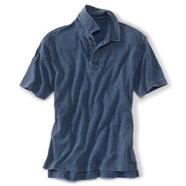 Indigo-Dyed Polo Shirt -