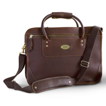 Bullhide™ Leather Extra-Capacity Briefcase -  image number 0
