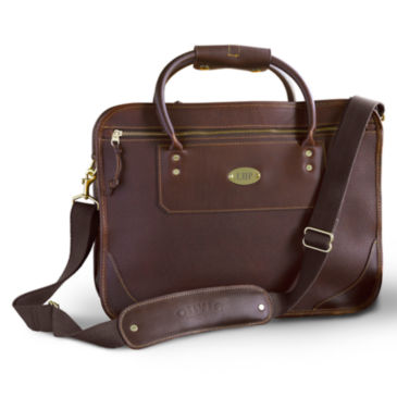 Bullhide™ Leather Extra-Capacity Briefcase -