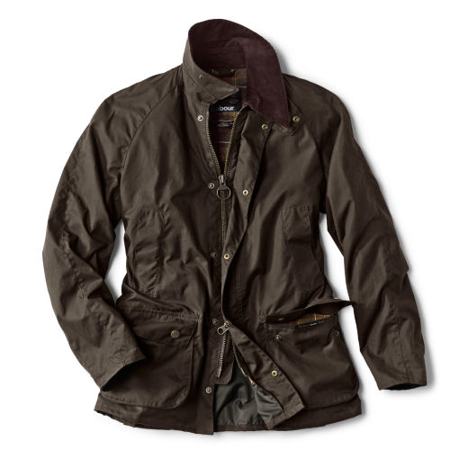 A dark olive-colored jacket