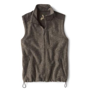 Waxed Cotton Trimmed Fleece Vest -