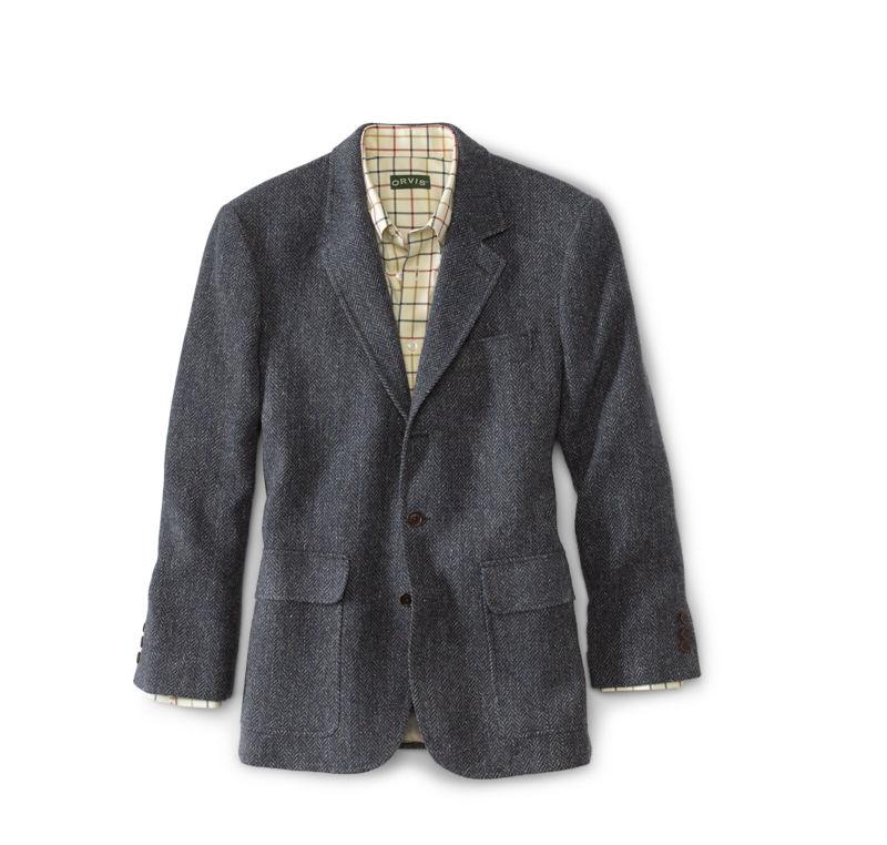 1940s Mens Suits | Gangster, Mobster, Zoot Suits Lightweight Highland Tweed Sport Coat  Regular BlueGray 48 $398.00 AT vintagedancer.com