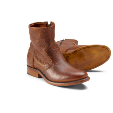 Bison Leather Zip Boot -