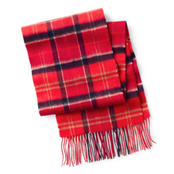 Barbour® Merino/Cashmere Tartan Scarf - RED image number 0