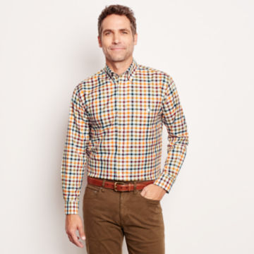 Pure Cotton Wrinkle-Free Long-Sleeved Shirts - Regular -  image number 1
