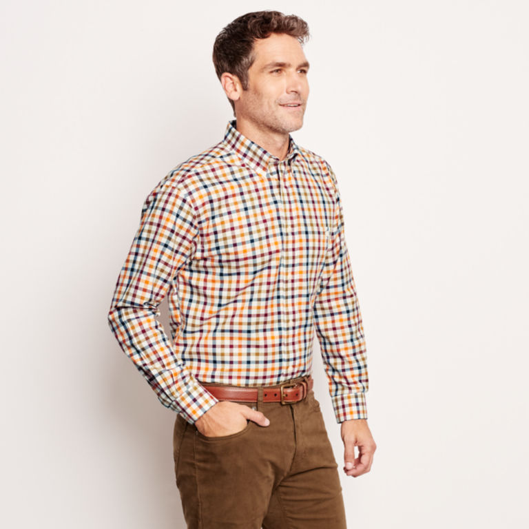 Pure Cotton Wrinkle-Free Long-Sleeved Shirts - Regular -  image number 2
