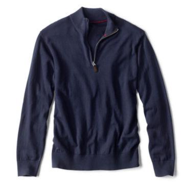 Cotton/Silk/Cashmere Zipneck Sweater -  image number 0
