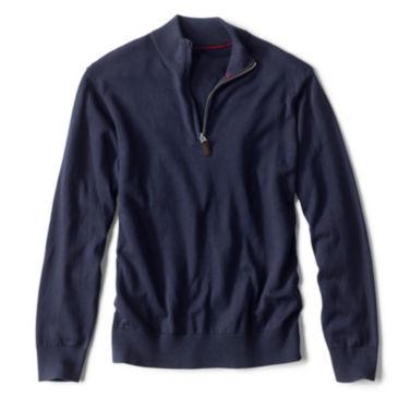 Cotton/Silk/Cashmere Zipneck Sweater -