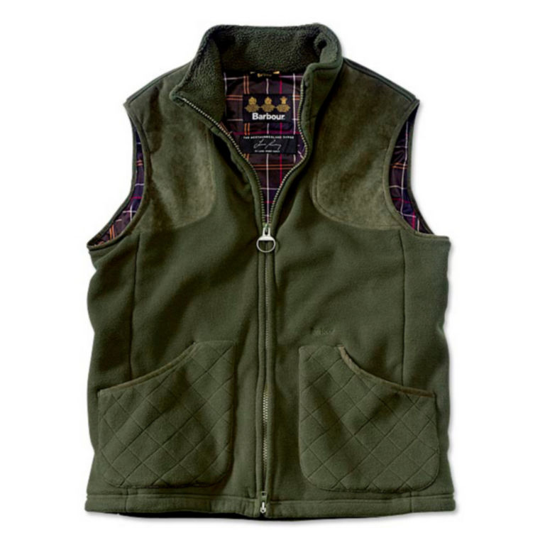 Barbour® Dunmoor Fleece Vest - OLIVE image number 0
