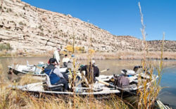 Group of people fishing on the San Juan River