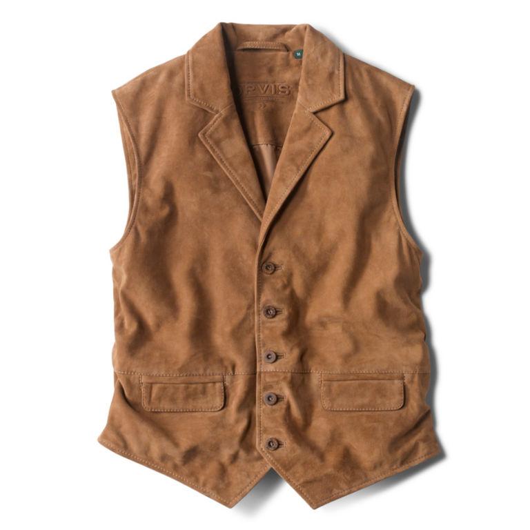 CFO Sueded Lapel Vest - BROWN image number 0