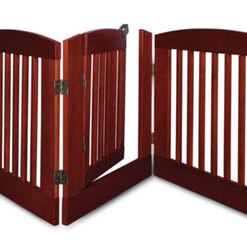 Freestanding Three-Panel Gate with Door -  image number 3