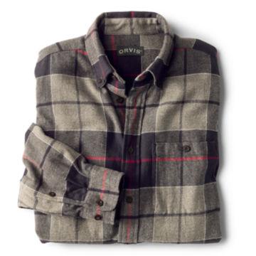 Flannel Exploded Patterns Long-Sleeved Shirt - BLACK image number 1