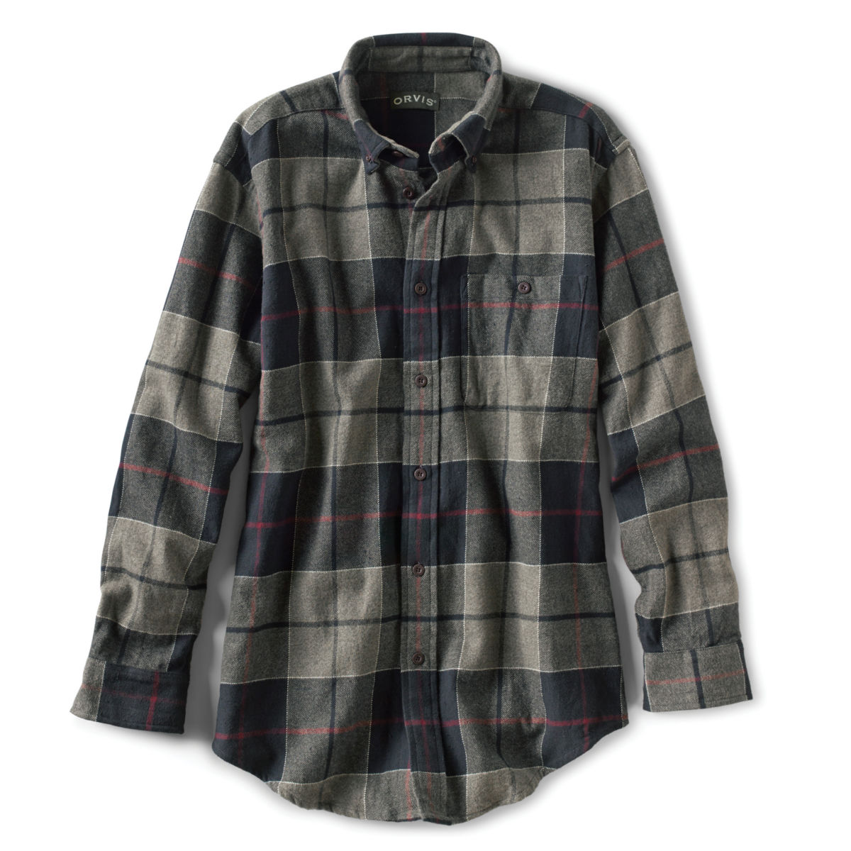 Flannel Exploded Patterns Long-Sleeved Shirt - BLACKimage number 0