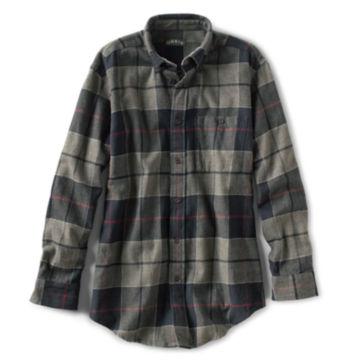 Flannel Exploded Patterns Long-Sleeved Shirt - BLACK image number 0