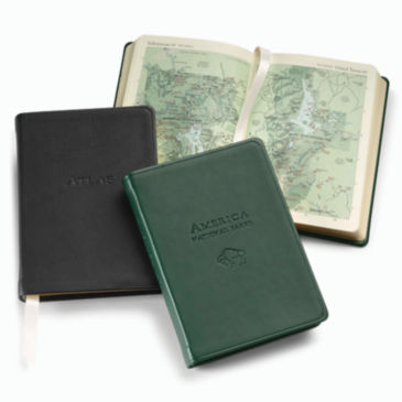 Personalized Leather-Bound Atlas -