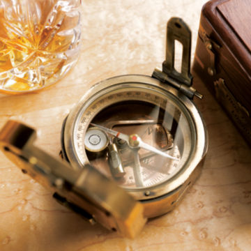 Gift-Boxed Brass Compass -  image number 1
