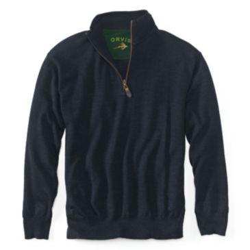 Merino Wool Zipneck Sweater -