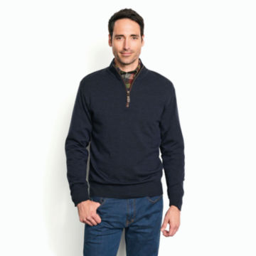 Merino Wool Zipneck Sweater -  image number 1