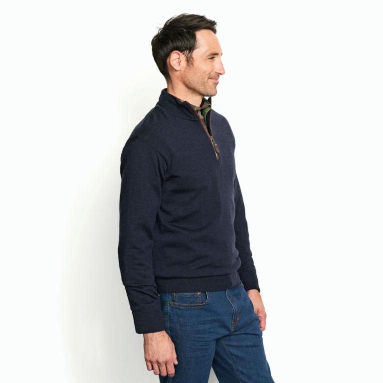 Merino Wool Zipneck Sweater -  image number 2